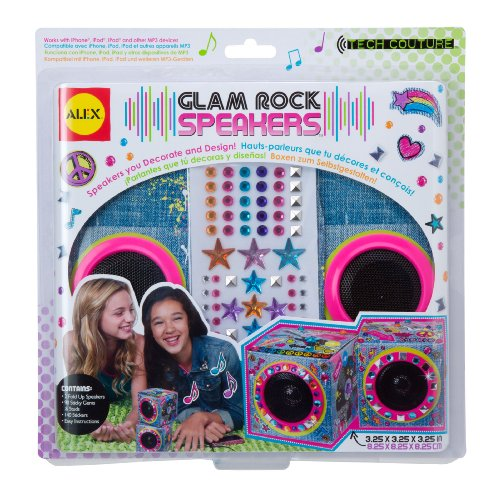 Alex Toys Girl 's Tech Couture Glam Rock luidspreker denim print