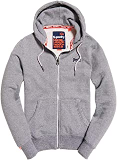Superdry Men's Orange Label Feeder Stripe Full Zip Hoodie