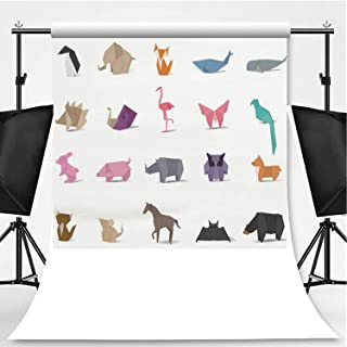 Animal Origami Vector Photography Background,163076 for Video Photography,Pictorial Cloth:6x10ft