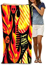 Bath Towel Beach Towel Comfortable Quick Drying Bath Towels for Home Bathroom Pool and Gym 31x51 Inches fire Flame Textile...