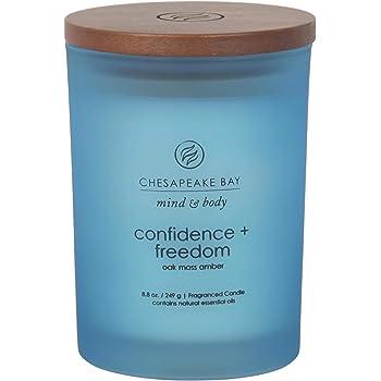 Chesapeake Bay Candle Scented Candle, Confidence + Freedom (Oak Moss Amber), Medium