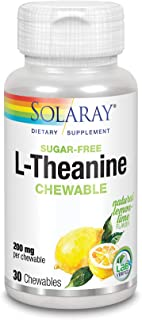 Solaray L-Theanine Chewable Supplement, 200 mg | 30 Count