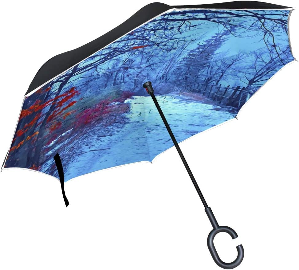 C-Handle Parasol Folding High order Windproof Reverse Double Umbrella Layer Cheap mail order specialty store