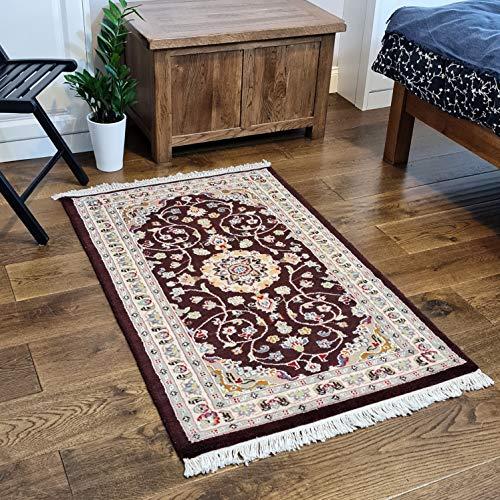 Handgeknüpfter, handgefertigter Persischer Stil aus Wolle und Seide, Teppich/Teppich, selten und einzigartig