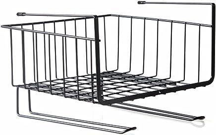 Kurtzy Under Shelf Hanger Basket Stainless Steel Wire Rack Storage for Kitchen & Bathroom Organizer Assorted Colours 28.5 x 26 x 19.5 cm