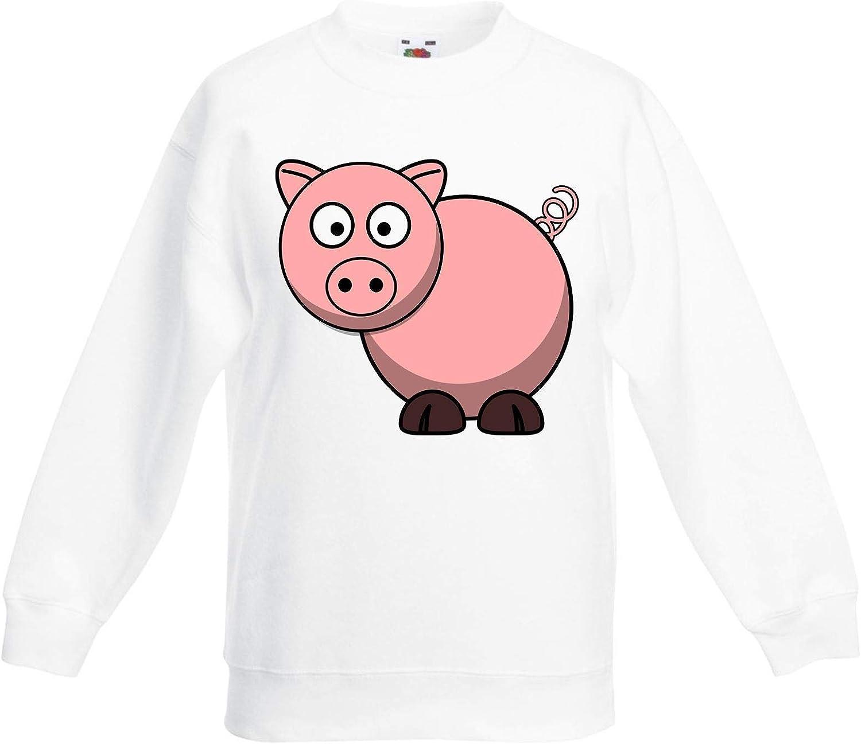 Cartoon Pig Farm Animals Children's Toddler Kids Sweatshirt Jump