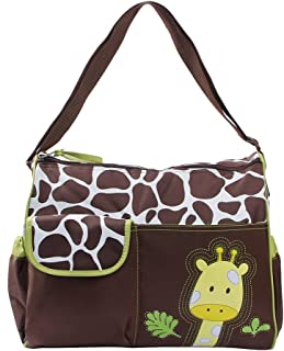 SFGHOUSE Canvas Baby Diaper Bag Striped Nappy Changing Bag for Mummy and Dad Large Multi-Function Shoulder Crossbody Travel Tote Bag with Changing Mat Green