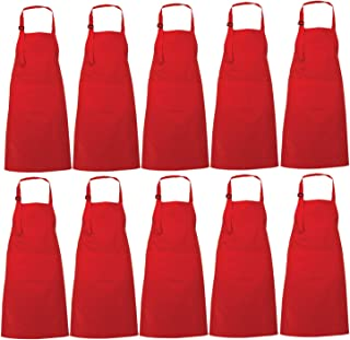 Best red aprons wholesale Reviews