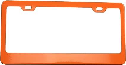KA LEGEND Solar Matellic Orange Powder Coated 100% Stainless Steel License Plate Frame Holder Tag