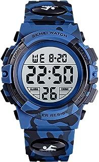 Boy's Digital Watch, Military Sports Watch with Alarm...