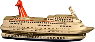 Bon Voyage Cruise Ship Oceanliner Hinged Trinket Box phb