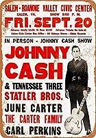 Johnny Cash in Virginia ティンサイン ポスター ン サイン プレート ブリキ看板 ホーム バーために
