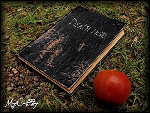 Replica Death Note notebook - book with fake parchment pages with all rules