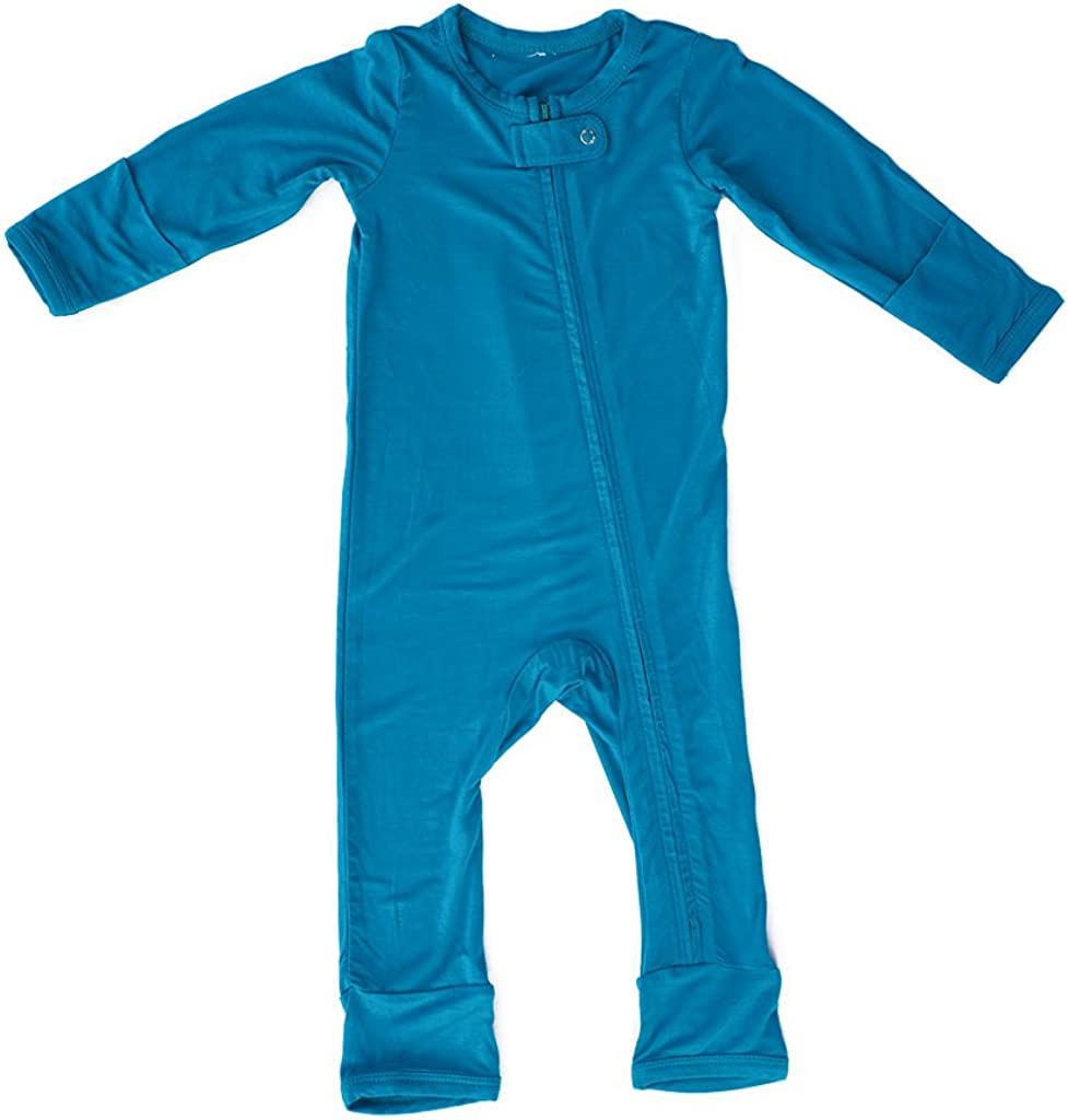 Kozi Co. Boys Baby and Toddler Romper In stock Coverall Months 3-6 Aqua Max 44% OFF