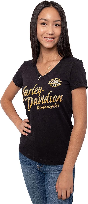 Harley-Davidson Japan Maker New Womens Japan Maker New Serene BS V-Neck T-Sh Sleeve Short Black
