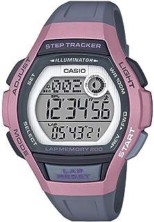 Women's Runner Quartz Running Watch with Resin Strap, Black, 19.3 (Model: LWS-2000H-4AVCF)