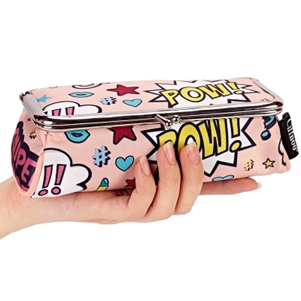錫データム染料化粧ポーチ かわいい がま口 ポーチ メイクポーチ ファッション レディース (ピンク)