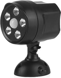 EASYmaxx LED-Strahler 360° In- & Outdoor   Bewegungsmelder für innen und außen   superhelles Licht für mehr Sicherheit   6V schwarz