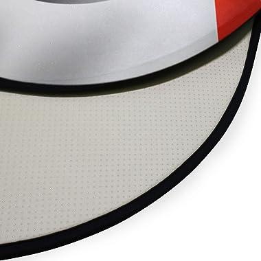 TropicalLife XIXIKO Tapis de sol rond antidérapant pour chambre d'enfant Motif drapeau de la France 91,9 cm