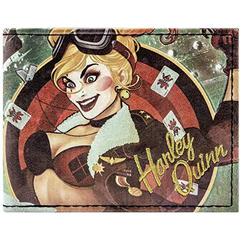 DC Comics Bombshells Harley Quinn Grün Portemonnaie Geldbörse