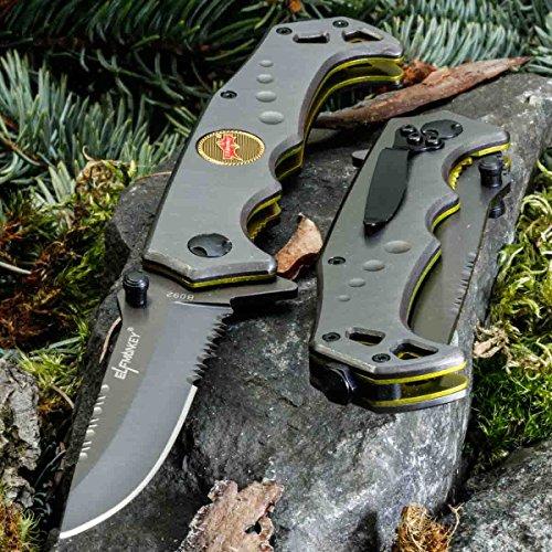 Elf Monkey B092V • KLAPPMESSER • EINHANDMESSER TAKTISCHES Messer • Gesamtlänge: 220mm • PTM-de.