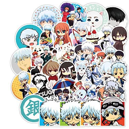 YMSD Gintama Sticker Anime Japonés Animación Animación Maleta Pegatina Maleta Trolley Case Notebook Sticker 100pcs