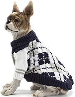 HAPEE Pet Clothes The Diamond Plaid Cat Dog Sweater,Dog Accessories,Dog Apparel,Pet Sweatshirt