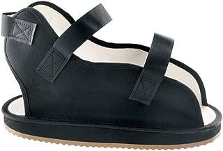 Ossur Canvas Rocker Bottom Post-Op Cast Shoe - Premium Quality, Maximum Protection with Contact Closure, Open Toe Sandal (Black, Small/Medium)