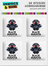GRAPHICS & MORE Aquaman Movie Black Manta Computer Case Modding Badge Emblem Resin-Topped 1