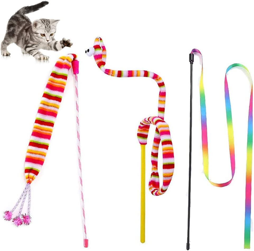 KABASI Cat Wand Super Special SALE held Rainbow All items in the store Toy Toys 3 Interactive Funny Styles