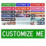 Custom Street Signs, 18' x 4' Green | 'Add Your Text' Personalized Road Sign, Create Your Own Sign - Aluminum Sign, Unique Gift