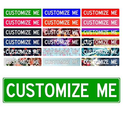 Custom Street Signs, 18' x 4' Green   'Add Your Text' Personalized Road Sign, Create Your Own Sign - Aluminum Sign, Unique Gift