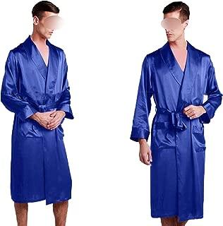 Mens Silk Satin Pajamas Pajama Pyjamas Robe Robes Bathrobe Nightgown Loungewear