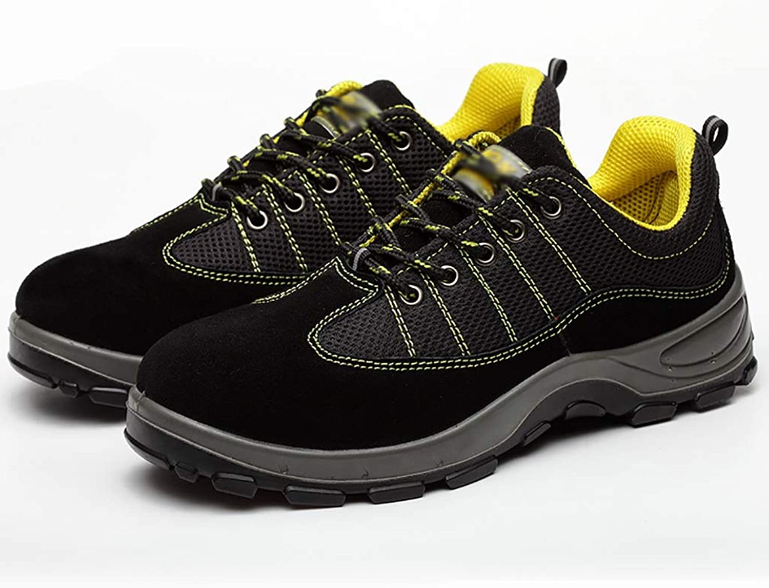 Gym wear for men Men's Casual shoes - Lightweight Hiking shoes Breathable with All Seasons shoes, Non-slip Outsole - Hiking and Hiking on cloud running shoes (color   Yellow, Size   41)