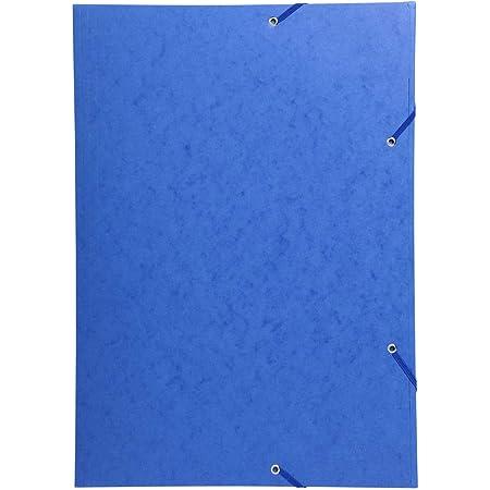 A4 coloris violet Exacompta 55508E carton de 25 Chemises 3 rabats /à /élastiques carte lustr/ée 400g//m2