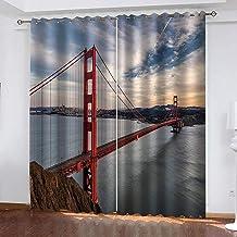Tieqiaohetian landschap 3D verduisterende gordijnen geschikt voor woonkamer slaapkamer kinderkamer verduisterende gordijne...