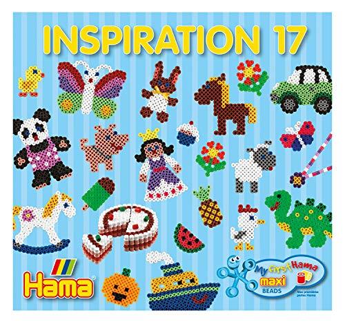 Hama Perlen 399-17 Inspiration Heft Nr. 17 Vorlagenbuch Maxi Bastelperlen mit Durchmesser 10 mm mit farbenfrohen Ideen, Motiven und Anleitungen zum Basteln, kreativer Bastelspaß für Groß und Klein