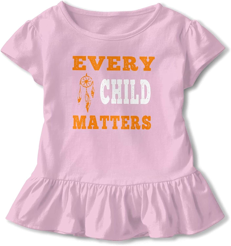 KizzCllo2 Every Child Matters Shirt Orange Day Baby Girl Cotton T-Shirt Short T Shirts Dresses