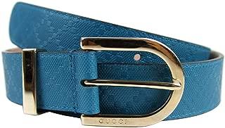 Women's Diamante Turquoise Blue Leather Belt 354382