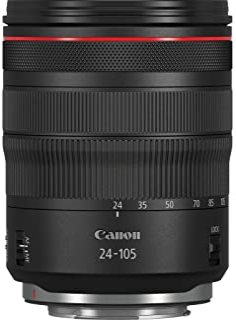 Canon - Objetivo RF 24-105mm f/4 L IS USM (Longitudes focales del Zoom de 24-105mm, Enfoque mínimo de 0,45 m) Negro