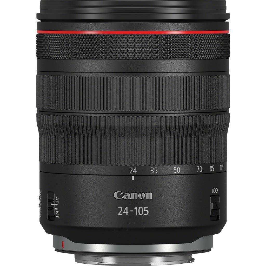 Longitudes focales del Zoom de 24-105mm, Enfoque m/ínimo de 0,45 m Objetivo RF 24-105mm f//4 L IS USM Negro Canon
