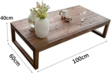 Coffee Table Stylish Solid Wood Coffee Table Tea Table Small Bay Window Table Japanese Tatami Table Low Table (Size : 100x60x