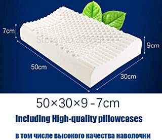 ZNTY Thailand Natural Latex Bed Cervical Pillow Health Care Orthopedic Pillow for Neck Dunlopillo Latex Foam Pillow Sleepi...