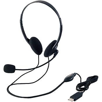 エレコム ヘッドセット マイク USB 両耳 オーバーヘッド 1.8m HS-HP27UBK