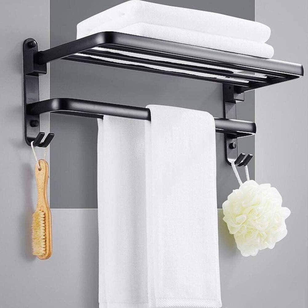 WGFGXQ Towel Rack Foldable Black Rac Bathroom Wall Mounted Super sale period Regular dealer limited