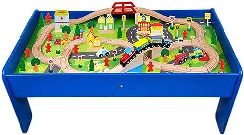 ZHANG Intellektuelles Spielzeug 90 Stück Kinder Holzbahn Spur Bausteine