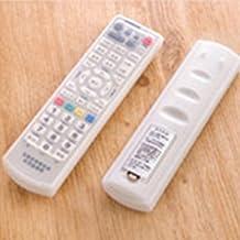 Funda protectora de silicona a prueba de polvo para mando a distancia, cubierta transparente impermeable para TV, para control remoto de aire acondicionado