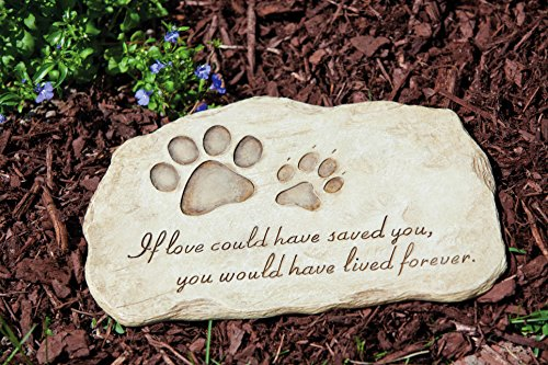 Evergreen Garden Pet Paw Print Stepping Stone