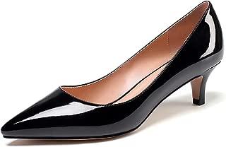 Women's Kitten Heel Pumps Pointed Toe Low Heel Pumps Slip on Comfort Dress Shoes 2 Inches Heels for Party Wedding Dress