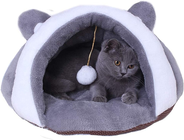 Alppq Plush PP Cotton Cat Nest Dog Nest Washable Cat Sleeping Bag Pet Mat Cotton Pad Cat Bed Cat House Four Seasons Universal Pet Cave Plush Bed Round Or Oval Pet Bed Warm Luxury Cat Dog Bed